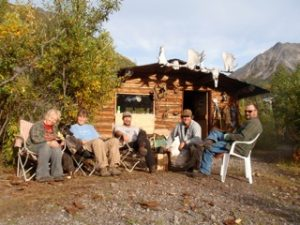 Vrem Alaska Hunting Group at the cabin.