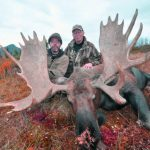Hazen with his Alaska Moose and Guide Rick Taylor