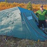 Jeff with Alaska Hunting Camp tent