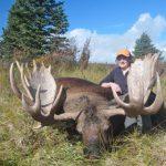 Judy J. with her Alaska Moose