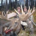 Excellent Alaska Moose with hunter and guide