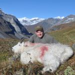 Nathan with his Alaska Mountain Goat