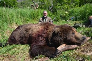 Kevin Conry with his 2016 Alaska Peninsula Brown Bear