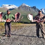 Bill and Ryan with their Moose racks