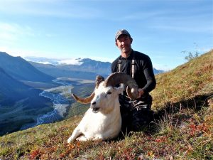 Don Hammond with his Alaska Dall Sheep